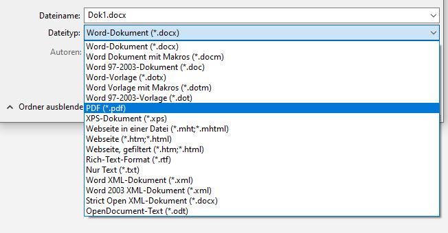 Dateiformate