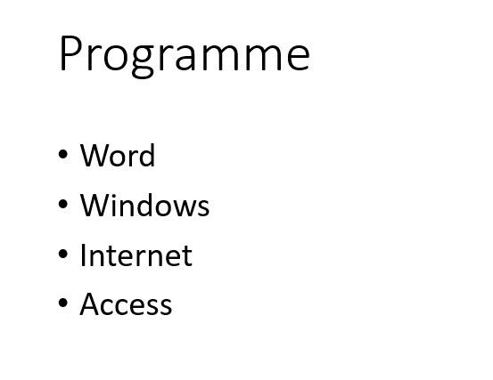 5 Programme