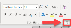 Word-Schriftart-Scheißerchen