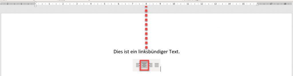 zentrierter Text