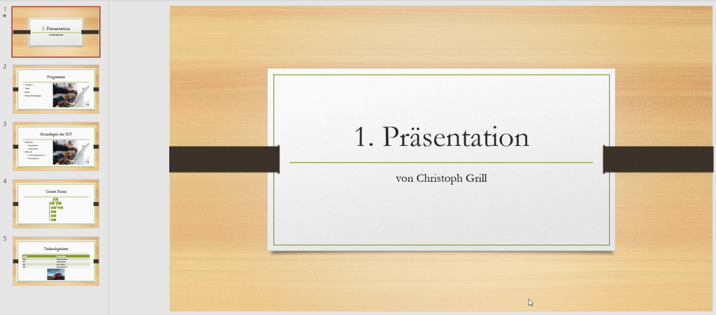 PowerPoint Normalansicht