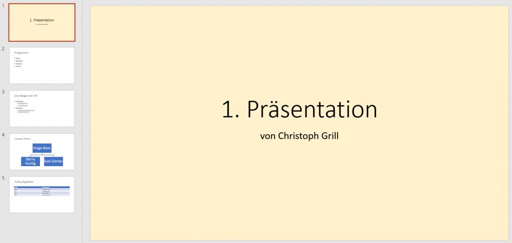 PowerPoint Hintergrund