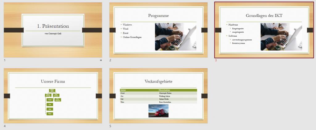 PowerPoint Foliensortierung