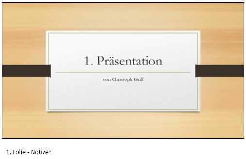 PowerPoint Notizseite