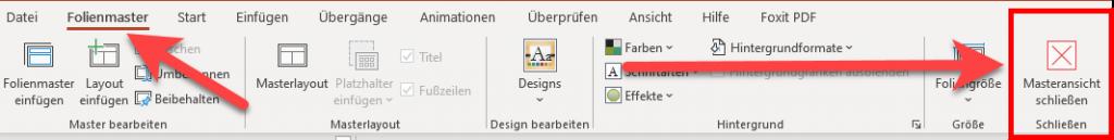 PowerPoint Masteransicht-schließen