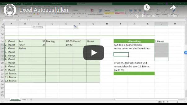 Excel Autoausfüllen