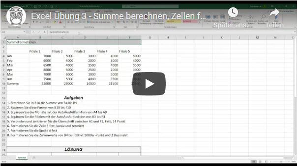 Excel Übung 3