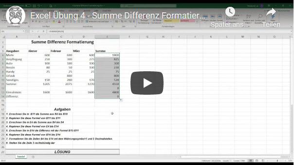 Excel Übung 4