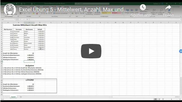 Excel Übung 5