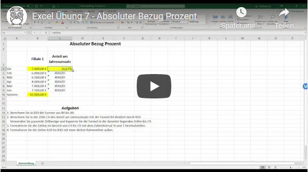 Excel Übung 7