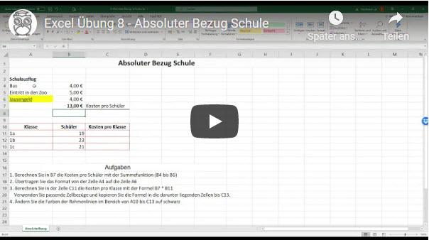 Excel Übung 8