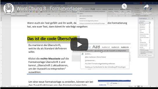 Word Formatvorlagen