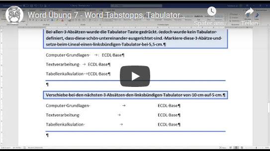 Word Tabstopps